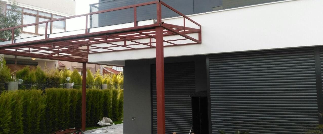 Kış bahçesi demir pergola çatı İzmir