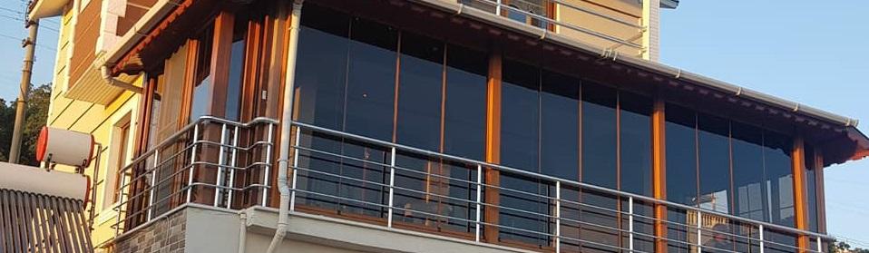 İzmir kış bahçesi renkli cam balkon