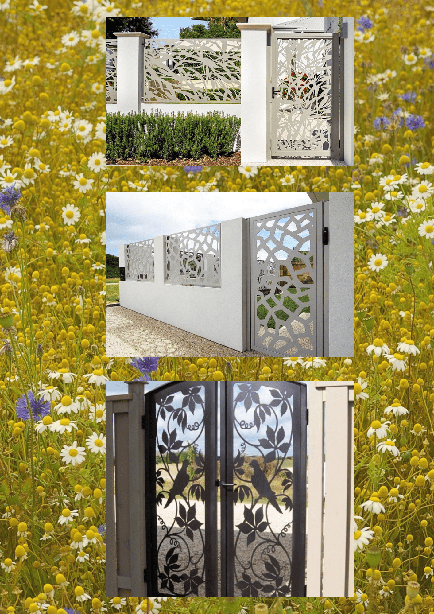 Lazer kesim bahçe giriş kapısı İzmir