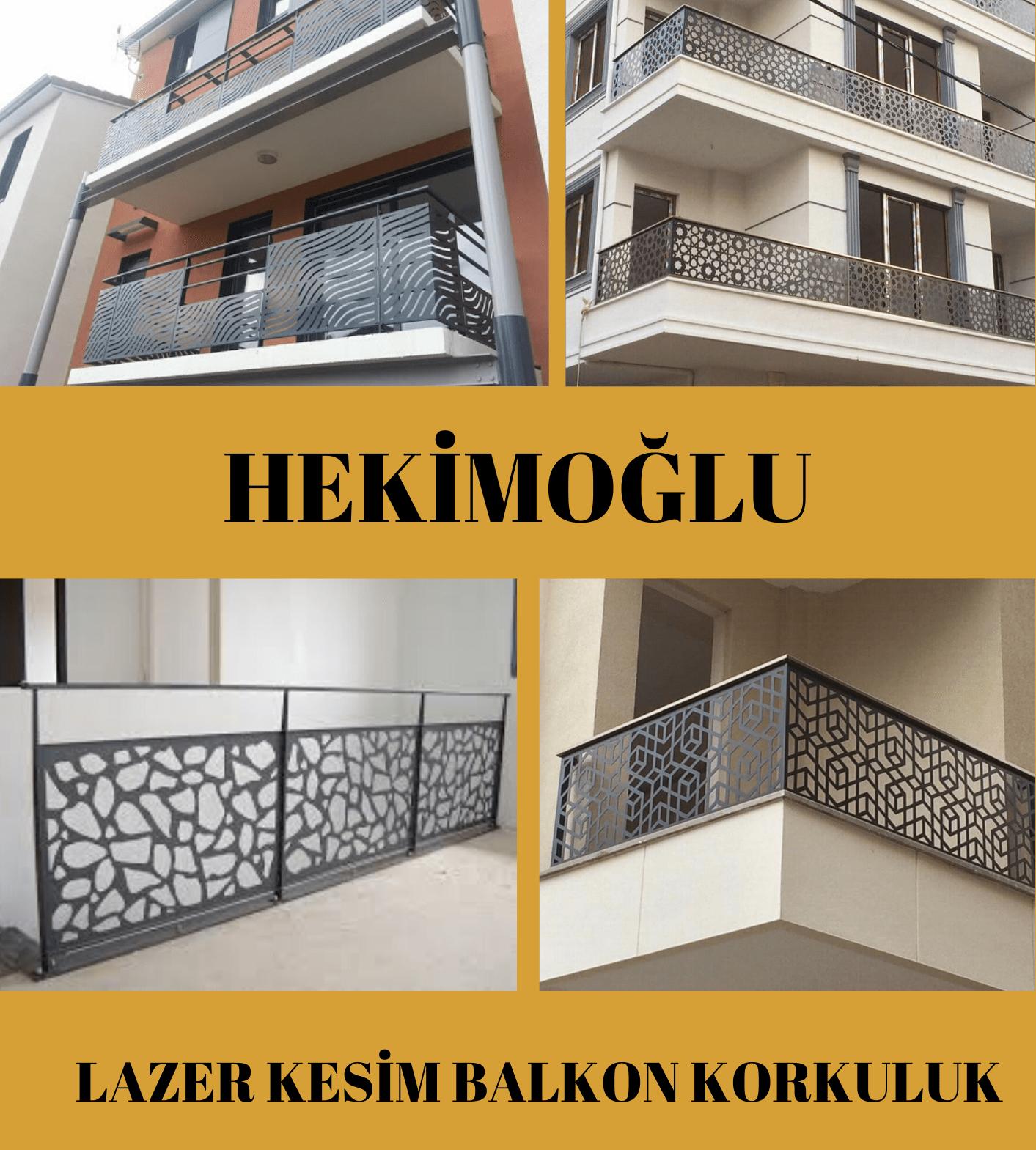 Lazer kesim balkon korkuluk İzmir modelleri
