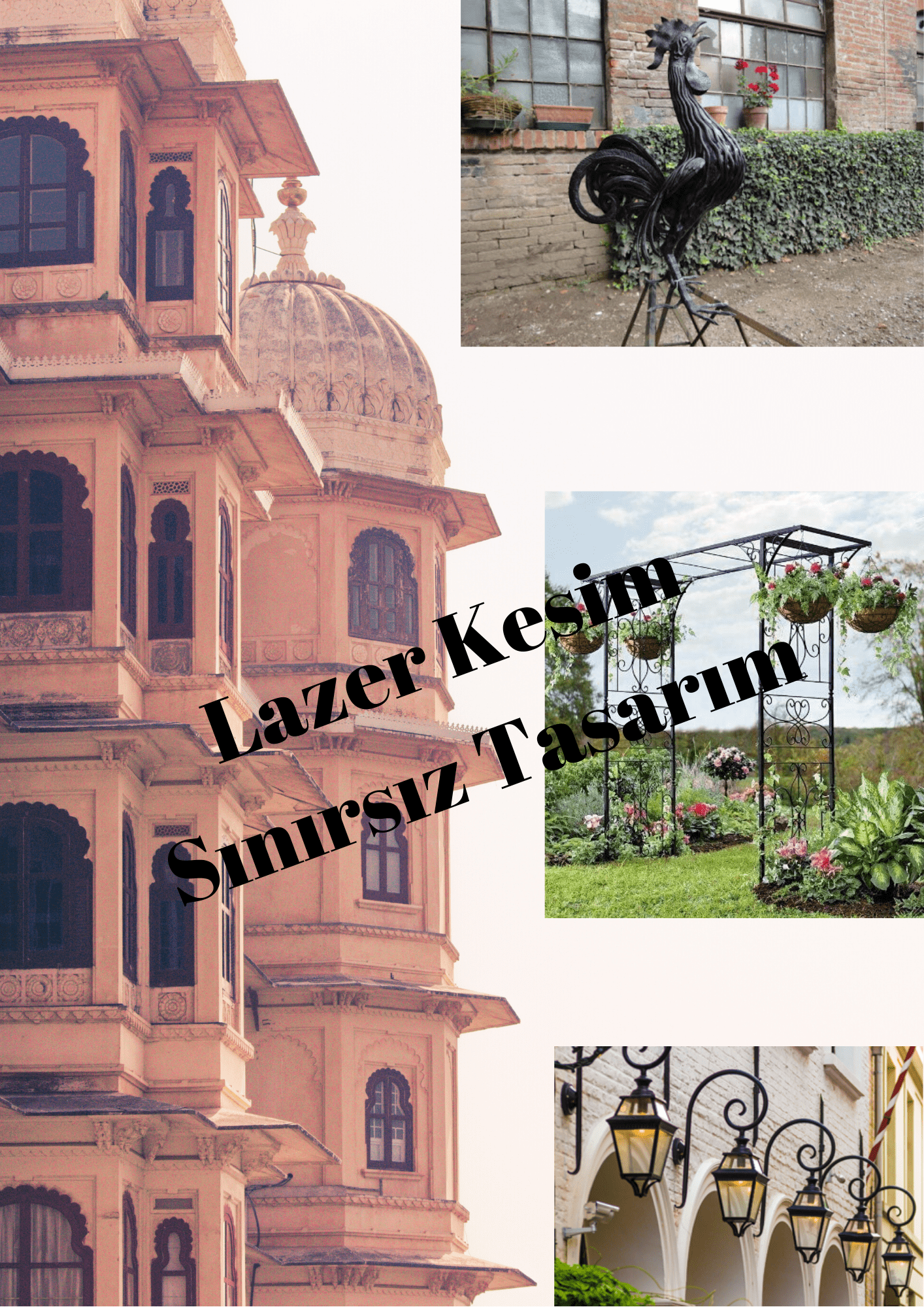 Lazer kesim mimari peyzaj tasarımları İzmir